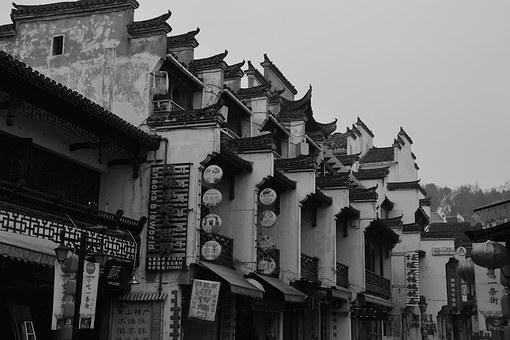 The Ancient Town, Old Town, Streets, Building, Anhui