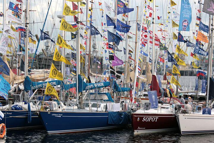 Yachts, Parking, Mast, Summer, Water, Marina, Yacht