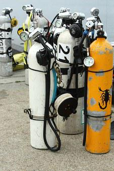 Diving, Cylinders, Water, Deep, Sea, Cylinder, Diver