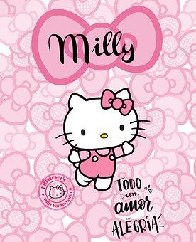 Hello Kitty, Cartoon, Background, Character, Cat, Girl