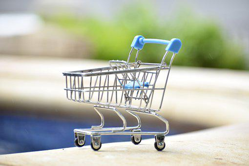Cart, Shopping, Miniature, Supermarket, Market