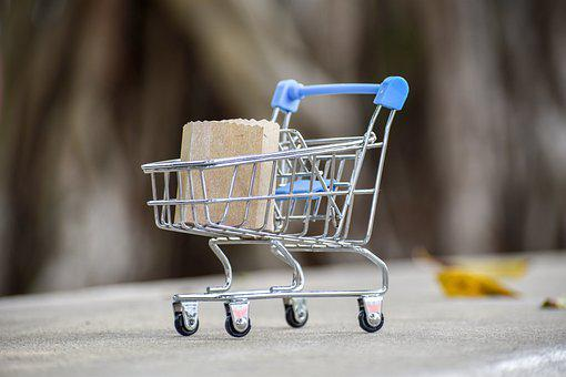 Cart, Paper Bag, Miniature, Shopping, Shopping Bag