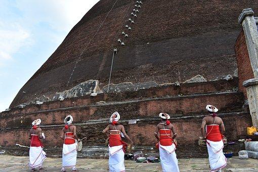 Buddhism, Hewisi, Drummer, Sri Lanka, Buddha, Pagoda