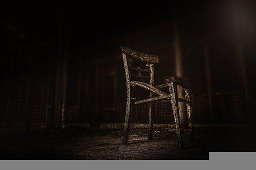 Chair, Urban, Urbex, Dark, Black, Old, Rustical