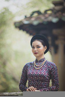 Woman, Ao Dai, Model, Asian, Young Woman, Fashion