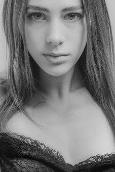 Girl, Face, Model, Portrait, Close Up, Retro, Look