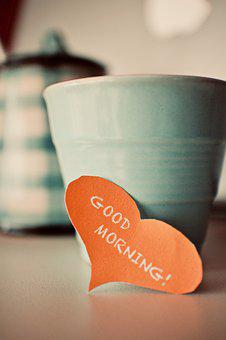Cup, Coffee, Good Morning, Phrases, Emotions, Morning