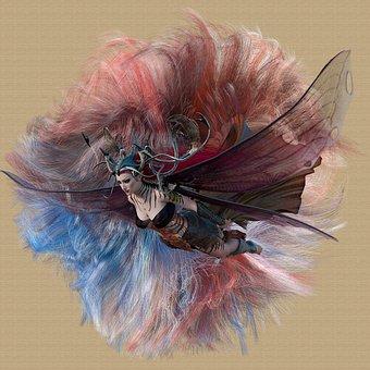 Fantasy, Fairy, Woman, Flying, Girl, Evil, Soul
