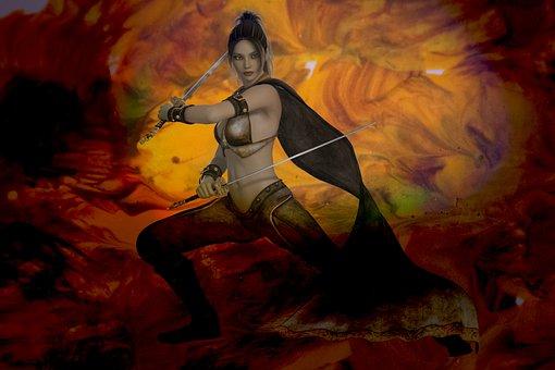 Fantasy, Warrior, Woman, Sword, Beauty, Fighter, Female