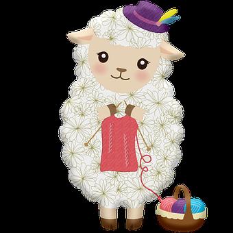 Sheep Knitting, Wool, Sheep, Knit, Donegal, Handmade