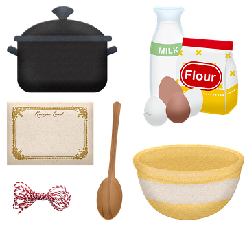 Kitchen Items, Bowl, Baking, Cooking, Wooden Spoon