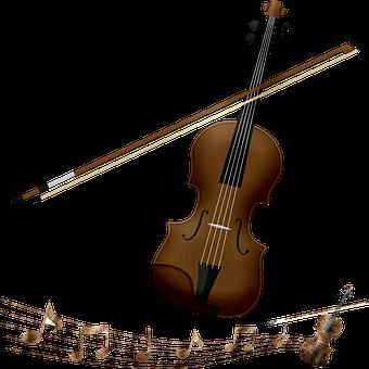 Violin, Music Notes, Rhythm, Musical, Song, Instrument