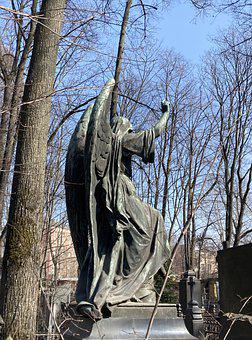 Angel, Statue, Sculpture, Figure, Cemetery, Grave