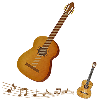 Guitars, Musical Notes, Sound, Song, Instrument, Melody