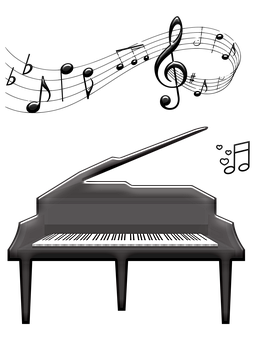 Piano, Musical Notes, Stool, Music, Song, Musical