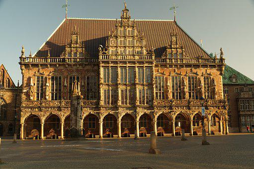 Building, Church, Town Hall, Bremen, Places Of Interest