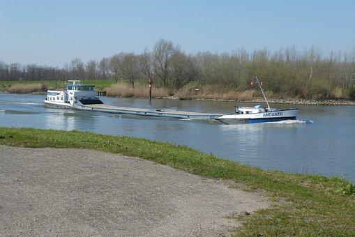 Cargo Ship, Boat, River, Ship, Freight, Nautical