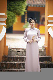 Ao Dai, Asian, Woman, Model, Portrait, Style, Fashion