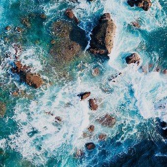 Background, Sea, Blue, Waves, Simple, Fresh