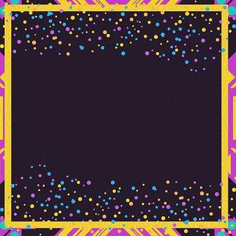 Memphis Digital Paper, 80s, Glitter, Scrapbooking