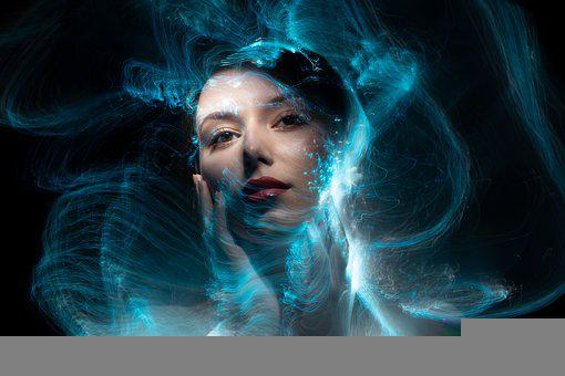 Woman, Face, Light Painting, Light, Girl, Beauty
