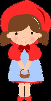 Little Red Riding Hood, Cute, Girl