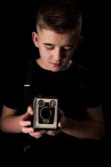 Boy, Teen, Old Camera, Male, Teenager, Model, Young