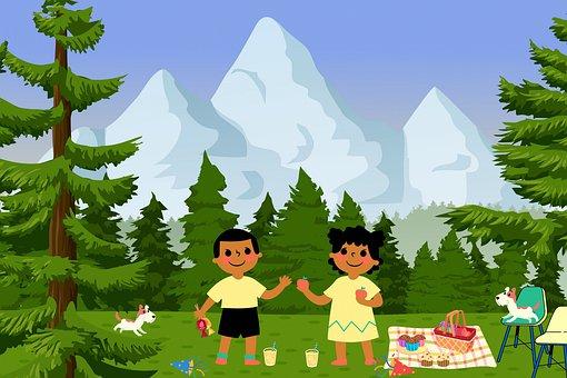 Love, Children, Friends, Amici, Mountains, Trees