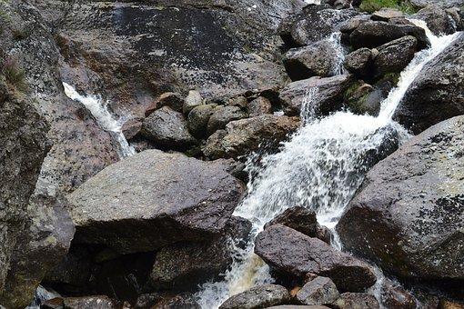 Water, Splashed, Rocks, Nature, Wet, Scenery, Stone
