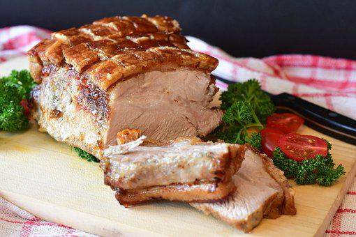 Pork, Roast, Meat, Roasted Pork, Slices, Sliced