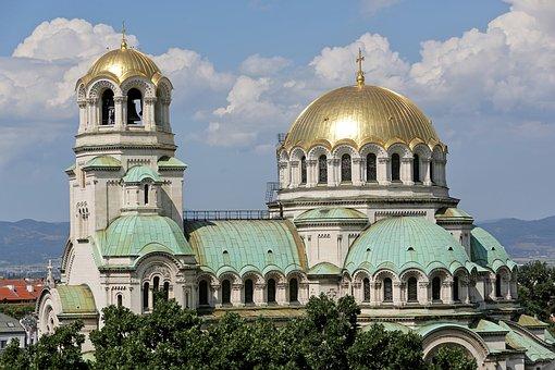 Sofia, Bulgaria, Alexander, Nevsky, Cathedral, Monument