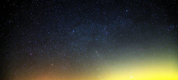 Stars, Fall, Night, Sky, Radiance, Nature, Starburst