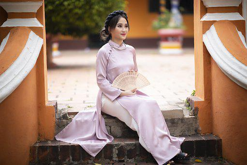 Ao Dai, Asian, Woman, Model, Portrait, Modeling, Pose