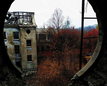Building, Ruins, Abandoned, Fall, View From The Window
