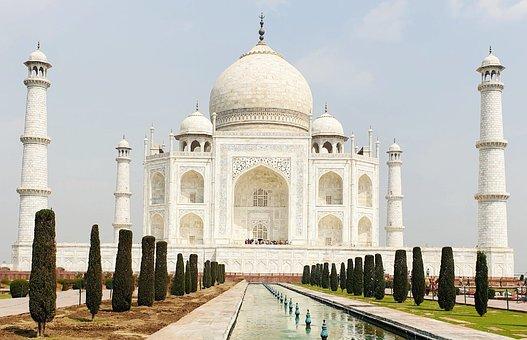 Taj Mahal, Monument, Architecture, Pond, Courtyard
