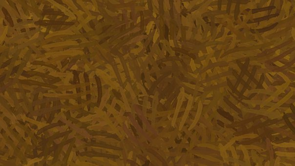 Background, Abstract, Pattern, Brush Strokes, Gilded