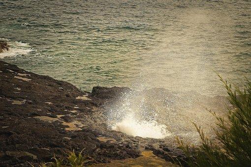 Blowhole, Splash, Coast, Coastline, Seaside, Spout