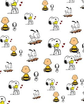 Snoopy, Child, Background, Cartoon, Pattern, Boy, Kid