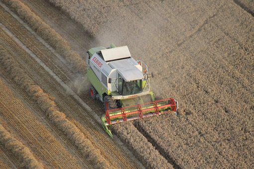 Harvester, Field, Farm, Tractor, Harvest, Wheat, Barley