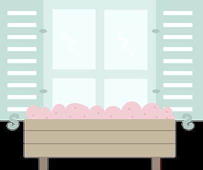 Window, House, Plant Box, Flowers, Plants