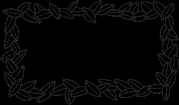 Frame, Leaves, Line Art, Border, Foliage, Decoration