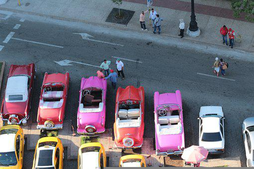 Cars, Street, Cuba, Havana, Road, Parking Area