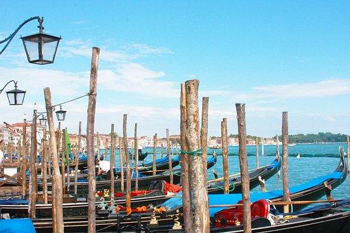 Venice, Boat, Boats, Italian, Venetian, Gondolas