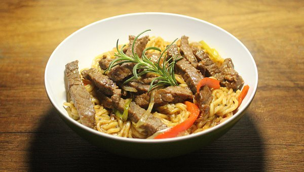 Food, Japanese, Noodles, Meat, Japan, Kitchen, Asia