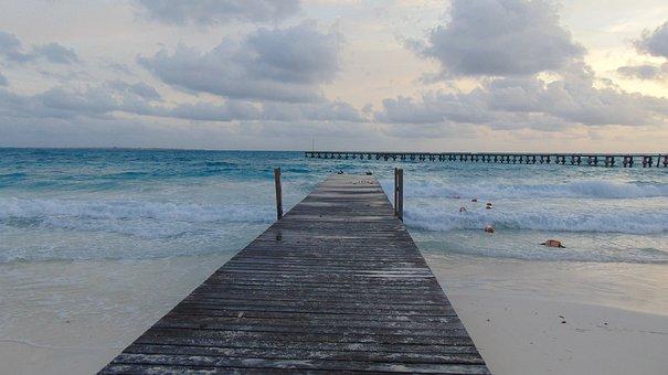 Mar, Playa, Arena, Naturaleza, Oceano, Horizonte, Sol