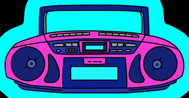 Radio Cassette Recorder, Radio, Vintage, Portable, Old