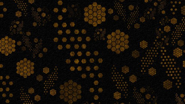 Background, Abstract, Honeycomb, Pattern, Dark, Honey