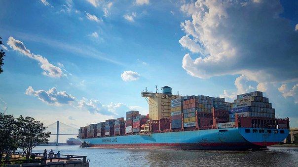 Ship, Cargo, Port, Container, Logistics, Shipping