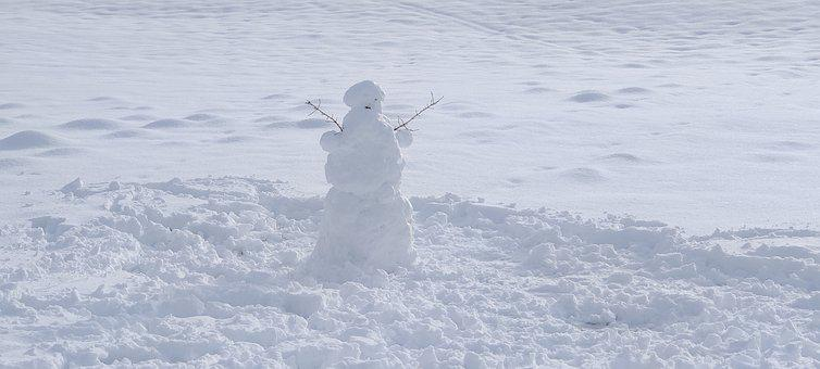 Snow, Snowman, Winter, Cold, Snowy, Outdoors, Nature