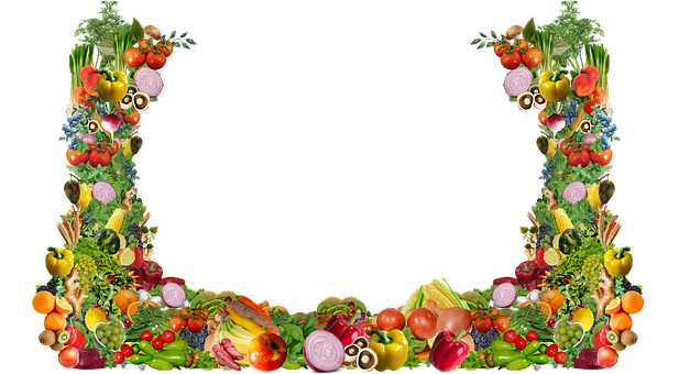Frame, Veggies, Fruit, Food, Vegan, Vegetarian, Produce